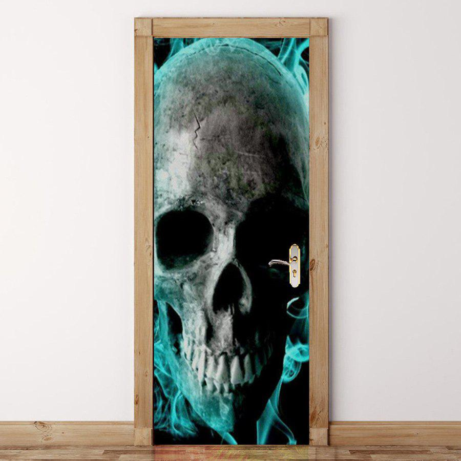 Unique Skull Pattern Door Cover Stickers