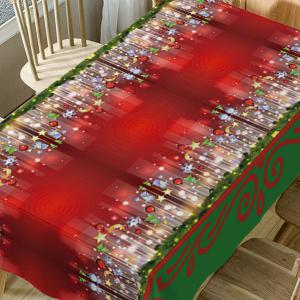 Christmas Hanging Ornaments Print Waterproof Table Cloth -