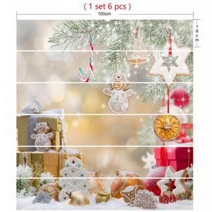 Christmas Ornaments Gift Print Stair Stickers -