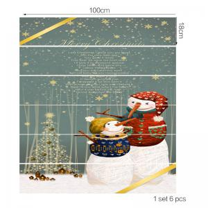 Mother and Son Snowman Print Decorative Stair Stickers -