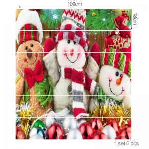 Three Cute Snowman are Smiling Pattern Decoration Stair Decals -