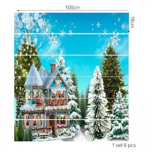 Christmas Forest Cottage Printed Stair Stickers -