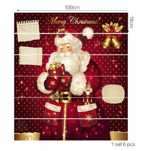 Christmas Santa Claus with Gifts Pattern Decorative Stair Stickers -
