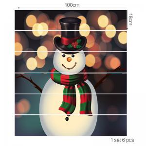 Spot Light Background Snowman Pattern Stair Stickers -