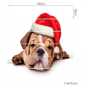 Christmas Puppy Print Stair Stickers -