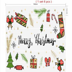 Christmas Elements Pattern Decorative Stair Stickers -