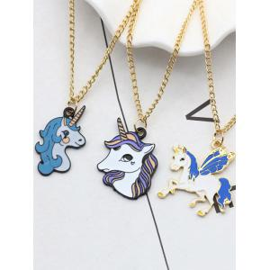 Unicorn Collarbone Pendant Necklace -