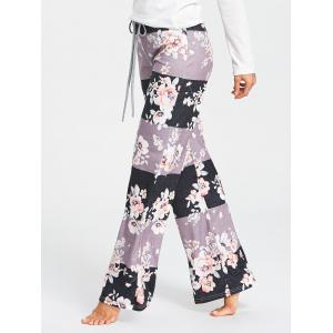 Flower Pattern Drawstring Waist Pajama Pants -