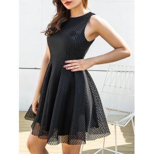 Sleeveless Mesh A-line Mini Dress -