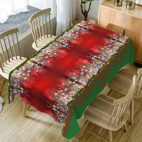 Online Christmas Hanging Ornaments Print Waterproof Table Cloth