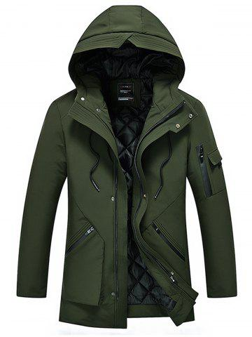Hot Hooded Padded Zip Up Cargo Coat