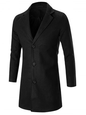 Lapel Single Breasted Wool Blend Coat