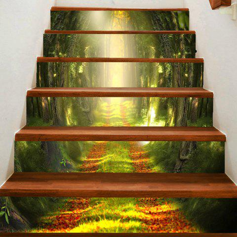 Unique Path in Woodland Printed Stair Stickers
