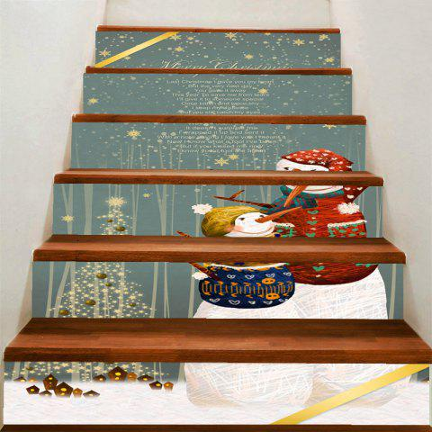 Best Mother and Son Snowman Print Decorative Stair Stickers