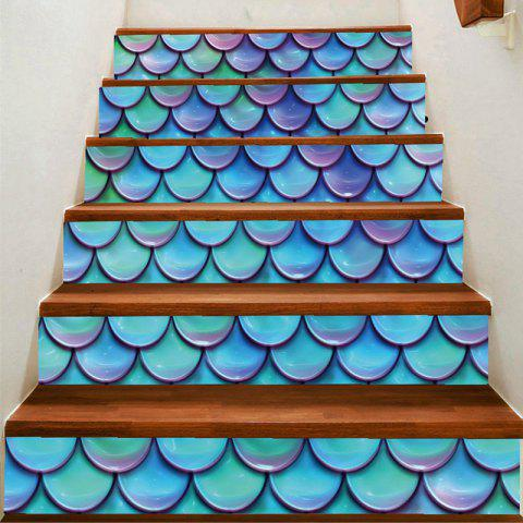 Shop Artistic Fish Scale Printed Decorative Stair Stickers