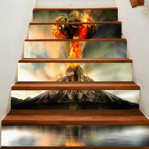 Discount Erupting Volcano Printed Decorative Stair Stickers