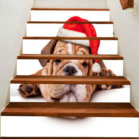 Cheap Christmas Puppy Print Stair Stickers