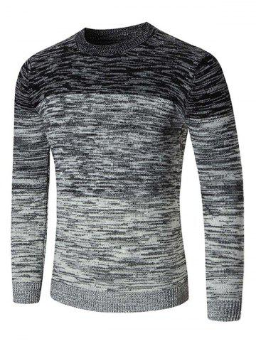 Latest Crew Neck Ombre Space Dyed Sweater