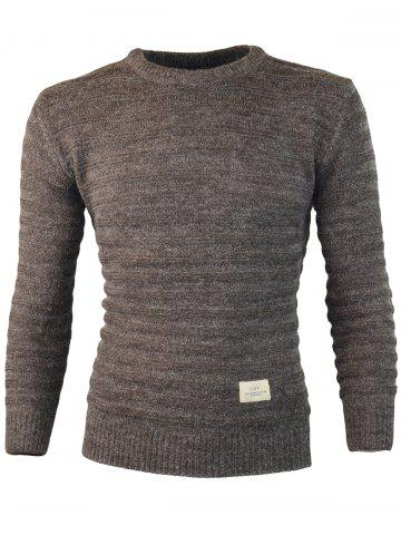 Store Patch Design Crew Neck Jumper Sweater