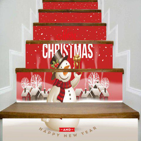 Online Merry Christmas Snowman Printed Decorative Stair Stickers