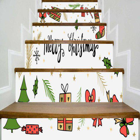Stickers d'escalier décoratif de Noël Elements Pattern