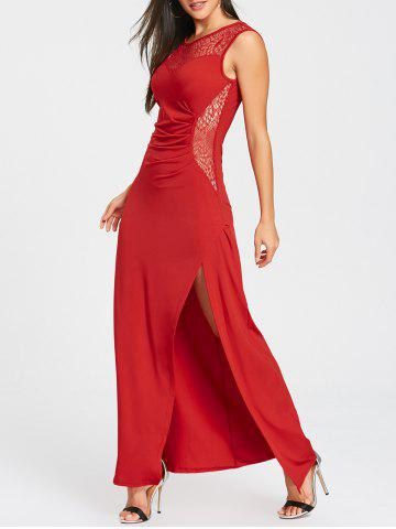 Outfits High Slit Draped Party Maxi Dress
