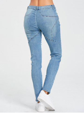 Chic High Rise Star Patchwork Jeans