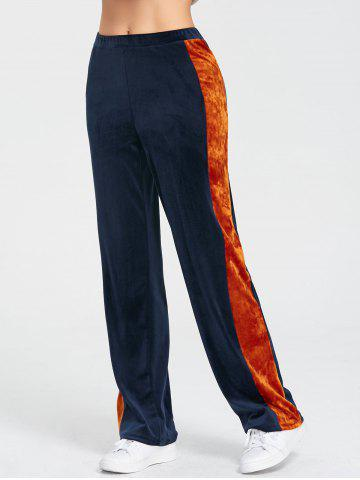 Velvet Sides Striped Pants