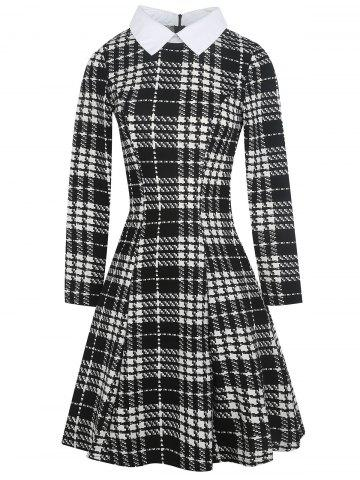 Plaid Knee Length Vintage Dress