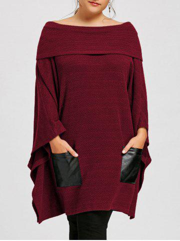 Fancy Plus Size Off The Shoulder Batwing Sleeve Top