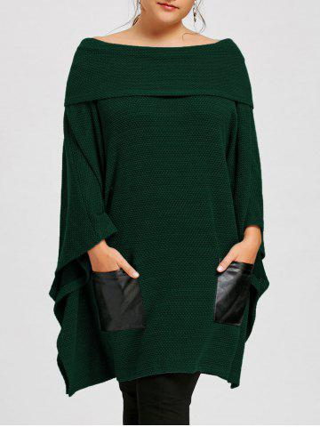 Sale Plus Size Off The Shoulder Batwing Sleeve Top
