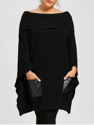 Outfit Plus Size Off The Shoulder Batwing Sleeve Top