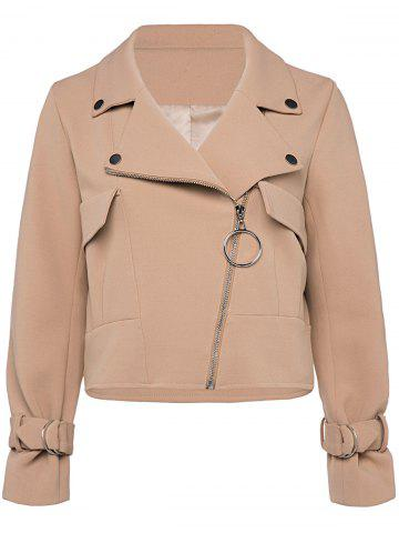 Outfits Zip Up Cropped Jacket