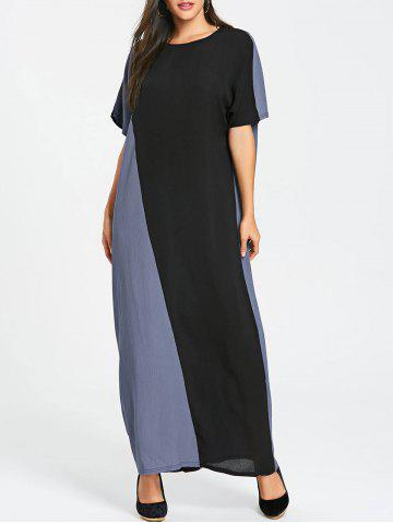 Affordable Color Block Maxi Shift Dress