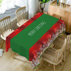 Merry Christmas Print Fabric Waterproof Table Cloth - W60 Inch * L84 Inch