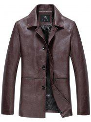 PU Leather Single Breasted Jacket -