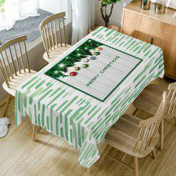Merry Christmas Baubles Print Fabric Waterproof Table Cloth -