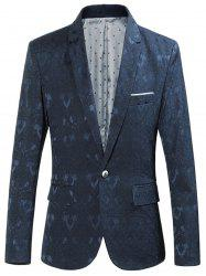 One Button Edging Jacquard Blazer -