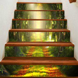 Path in Woodland Printed Stair Stickers -