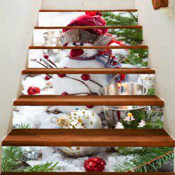 Cute Snowman Pattern Decoration Stair Stickers -