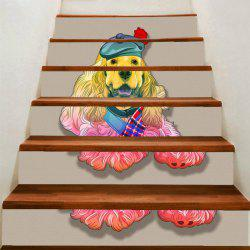 Cute Dog Pattern DIY Stair Stickers -