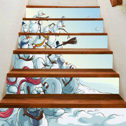 Snowman War Pattern DIY Decorative Stair Stickers -