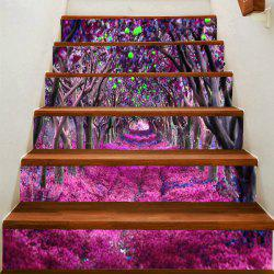 Fantasy Flower Road Printed Stair Stickers -