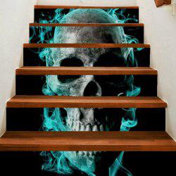 Horrible Skull Pattern Decoration Stair Decals -