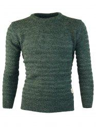 Patch Design Crew Neck Jumper Sweater -