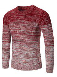 Crew Neck Ombre Space Dyed Sweater -