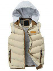Zip Up Hooded Lightweight Puffer Vest -