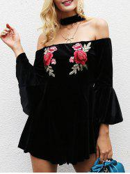 Off The Shoulder Back Zipper Romper -