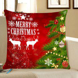 Decorative Christmas Tree Elks Pattern Throw Pillow Case -