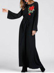 Floral Embroidered Maxi Dress -